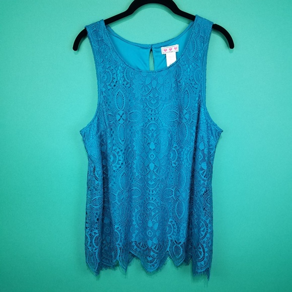 88d971d2012 Trixxi Blue Lace Overlay Top. M_5aa06106daa8f60dce6ccecf
